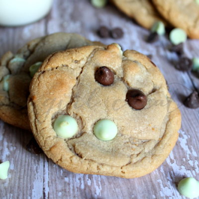 Mint Hot Cocoa Cookies