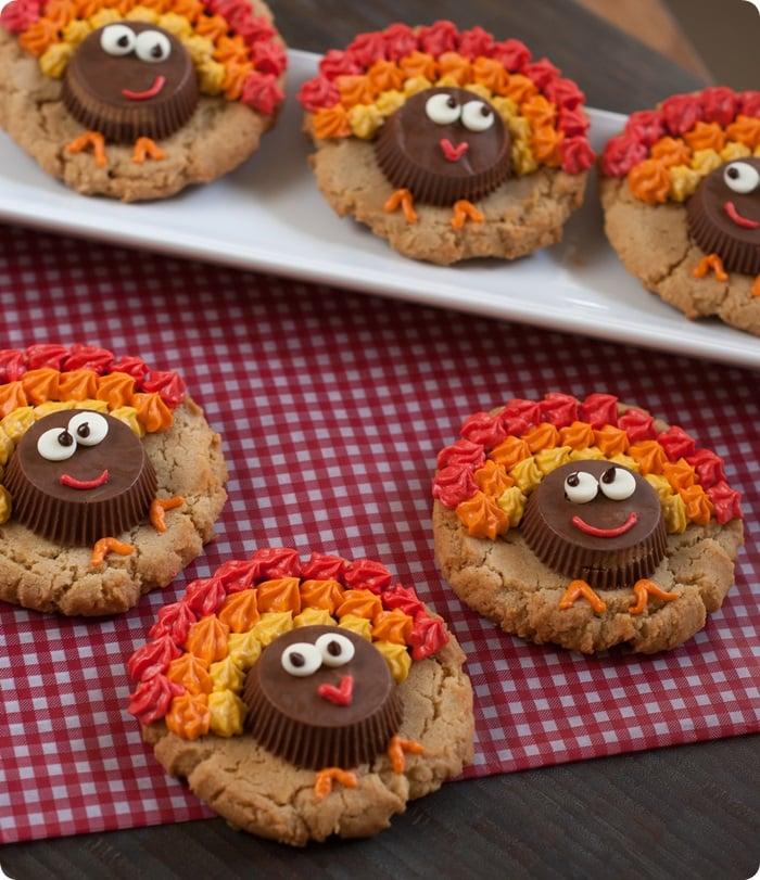 Thanksgiving Desserts-PBturkeycookies