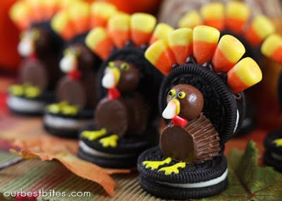 Thanksgiving Desserts-turkeys oreos-ourbestbites