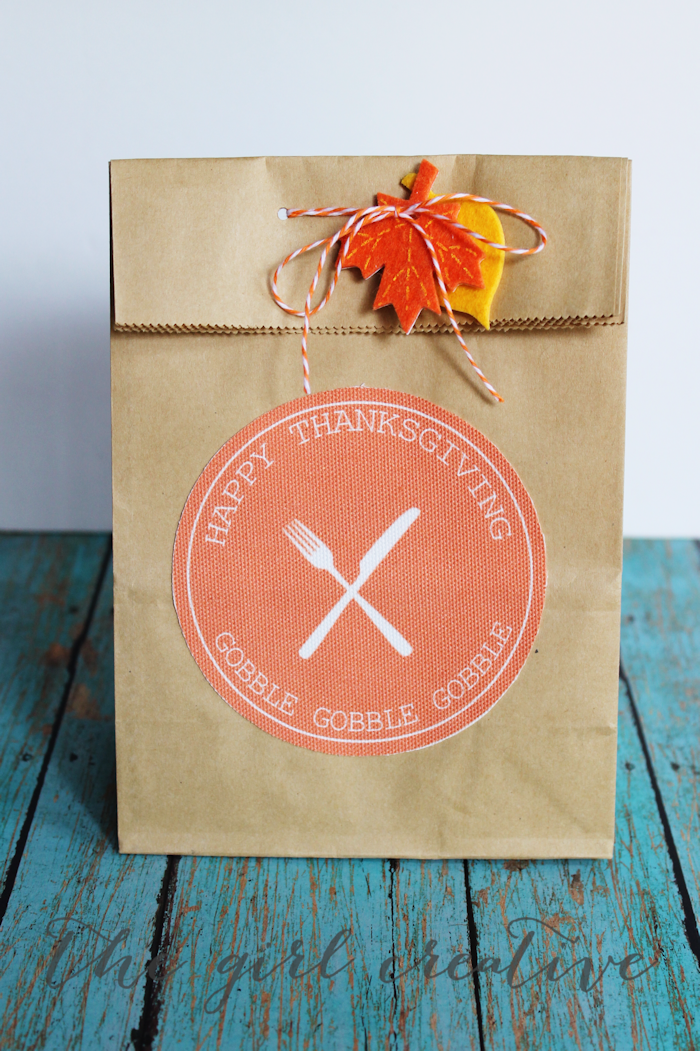 Thanksgiving Goodie Bag Printables