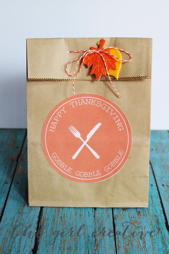 Thanksgiving Goodie Bag Printables