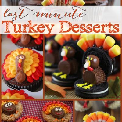 Last Minute Turkey Desserts