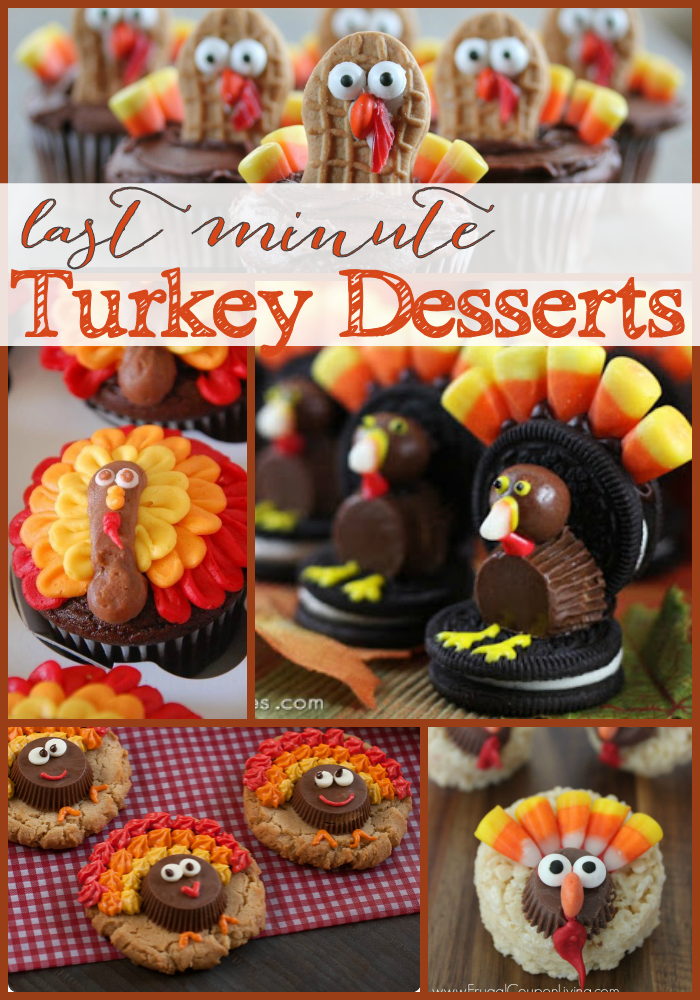 Last Minute Turkey Desserts The Girl Creative