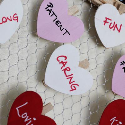 DIY Valentine Chalkboard Clothespins