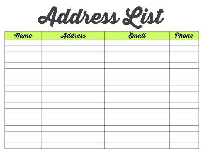 Family Binder-Address List-blog