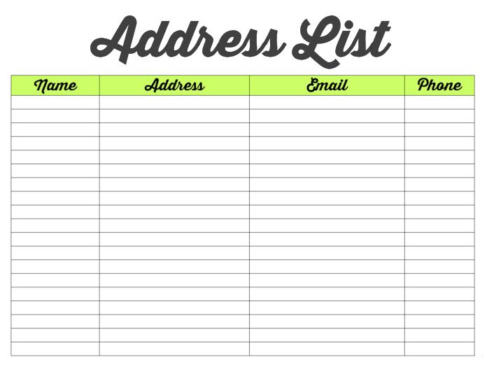 Family Binder-Address List-blog