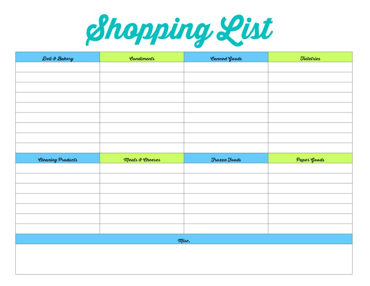Family Binder-Shopping List-blog