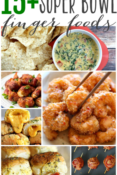 Appetizers and finger foods are the perfect menu choices for a super bowl party. Sliders, dips and anything you can quickly pop into your mouth while cheering for your favorite team will make your super bowl party a success.