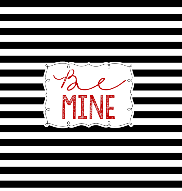 Valentine's Day Candy Bar Wrapper-Be Mine-small