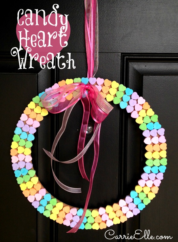 valentine crafts-Candy-Heart-Wreath-Craft