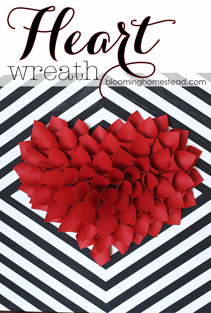valentine crafts-Heart-Wreath-by-Blooming-Homestead
