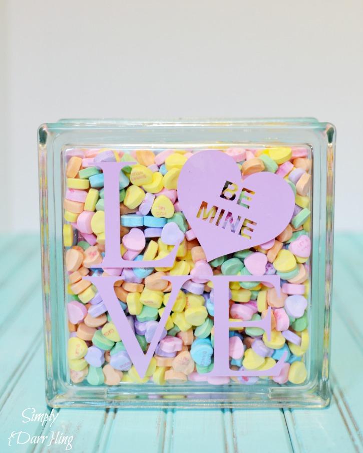 valentine crafts-conversation-heart-love-block