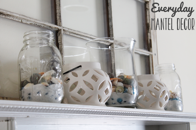 Everyday Mantel Decor