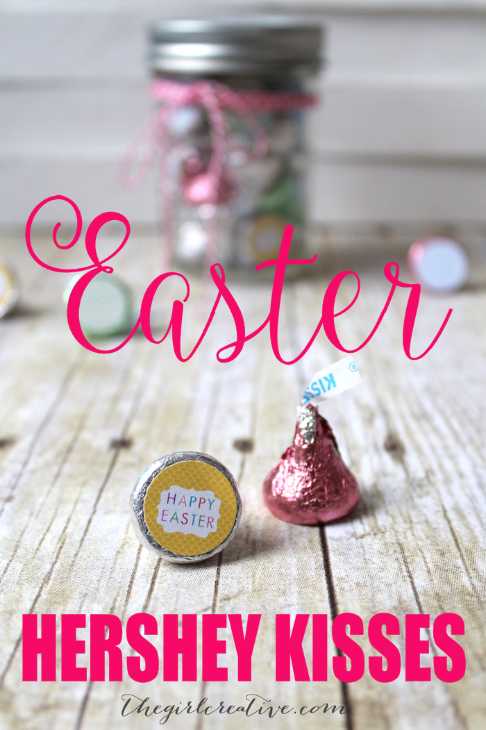 Printable Easter Hershey Kiss Labels - Includes printable mason jar lid labels
