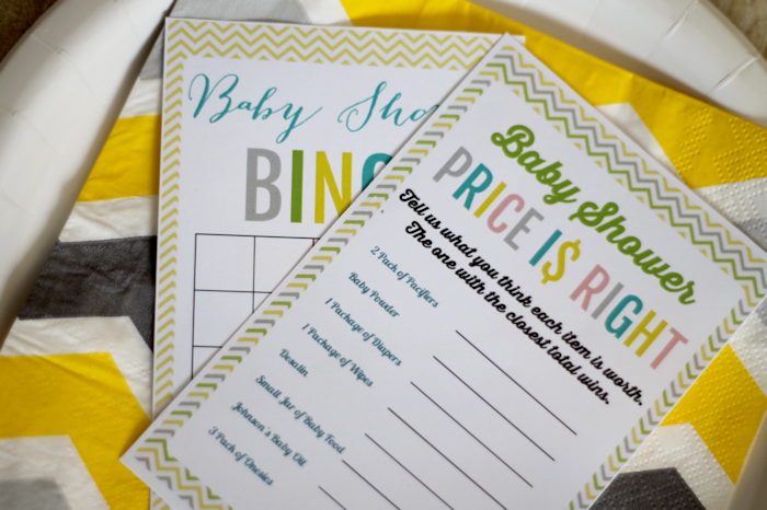 Printable Baby Shower Games, Baby Shower Bingo and Baby Shower Price is Right