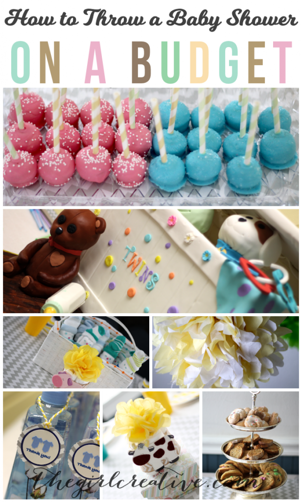 How to Throw a Baby Shower on a Budget   Dollar Store favors, handmade decorations, desserts and free printables