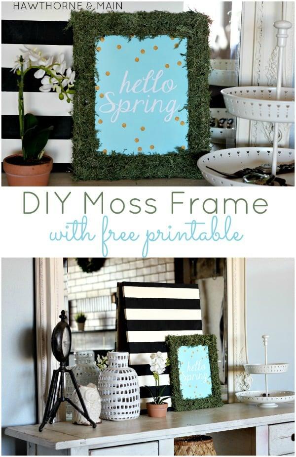 feature-diy moss frame