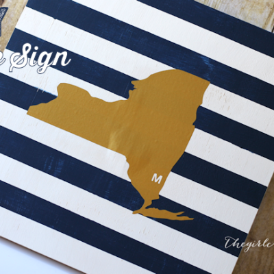 DIY State Sign