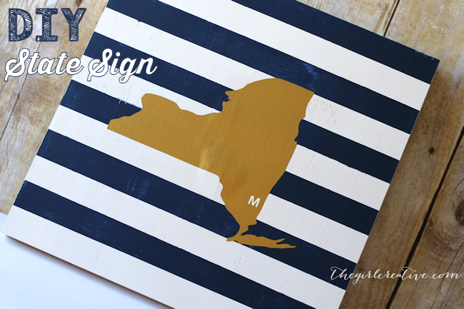 DIY State Sign-Feature