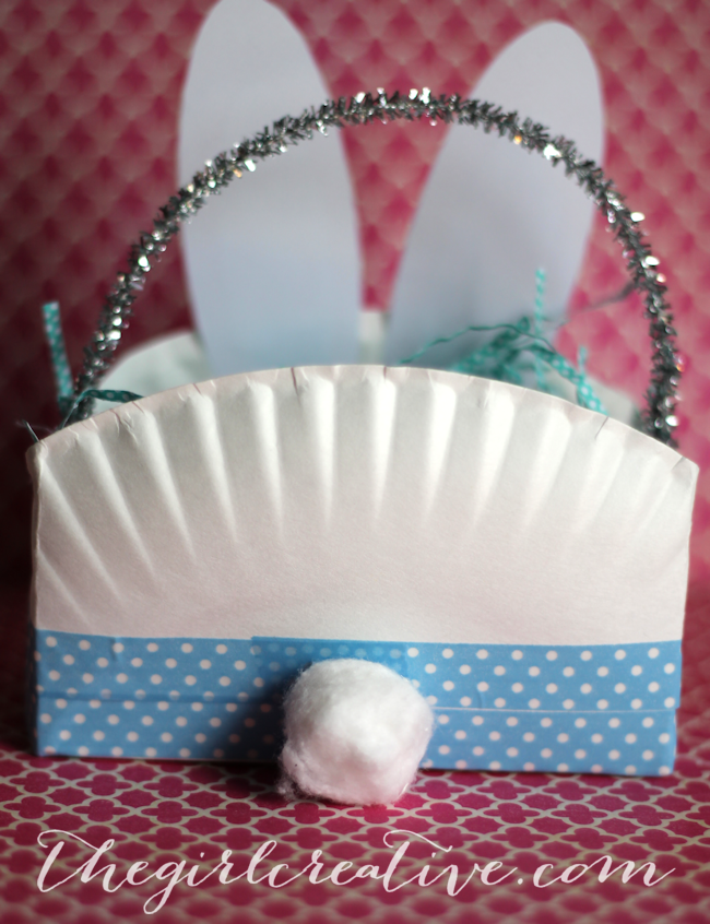 Easter Bunny Basket Backside & Paper Plate Easter Bunny Basket - The Girl Creative