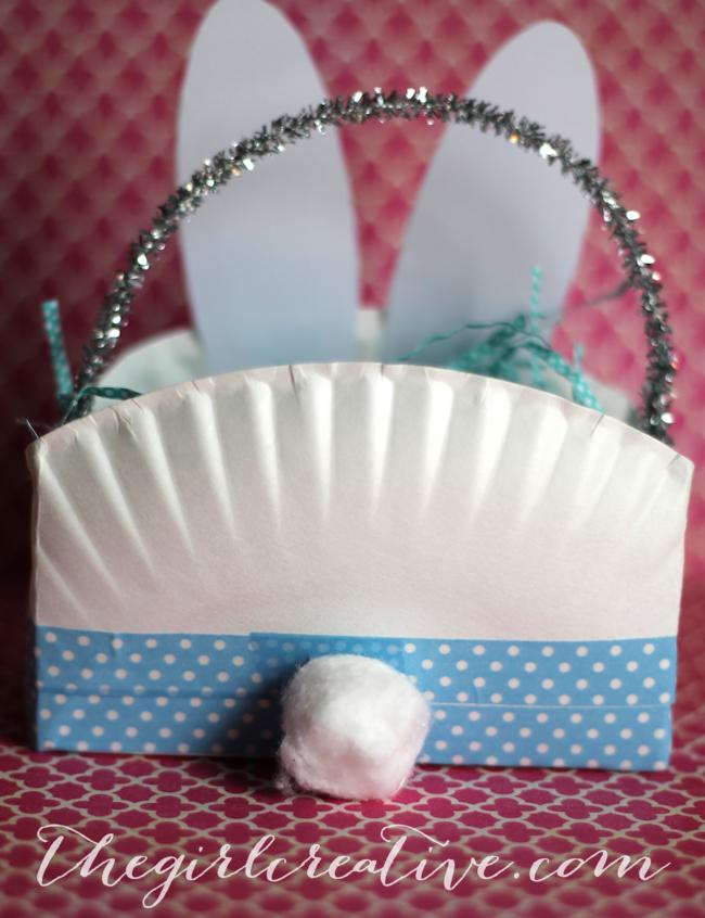 Easter Bunny Basket Backside
