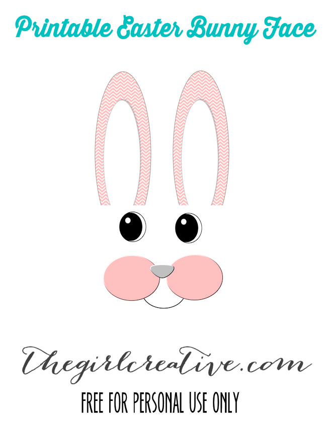 Easter Bunny Face Printable
