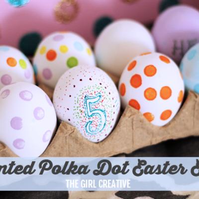 Painted Polka Dot Easter Eggs