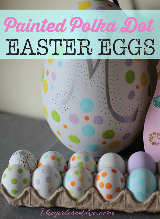 Painted Polka Dot Easter Eggs | Simple #eastercraft to do with your kids #easter
