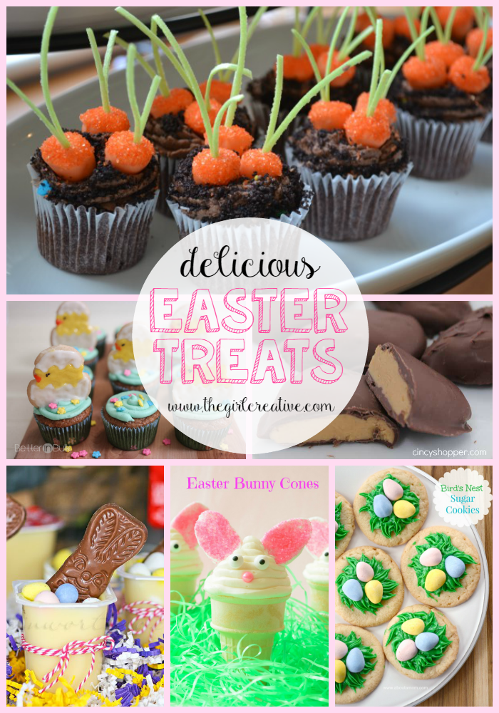 Delicious Easter Treats | The Girl Creative Easter Desserts, Easter Bunny Recipes