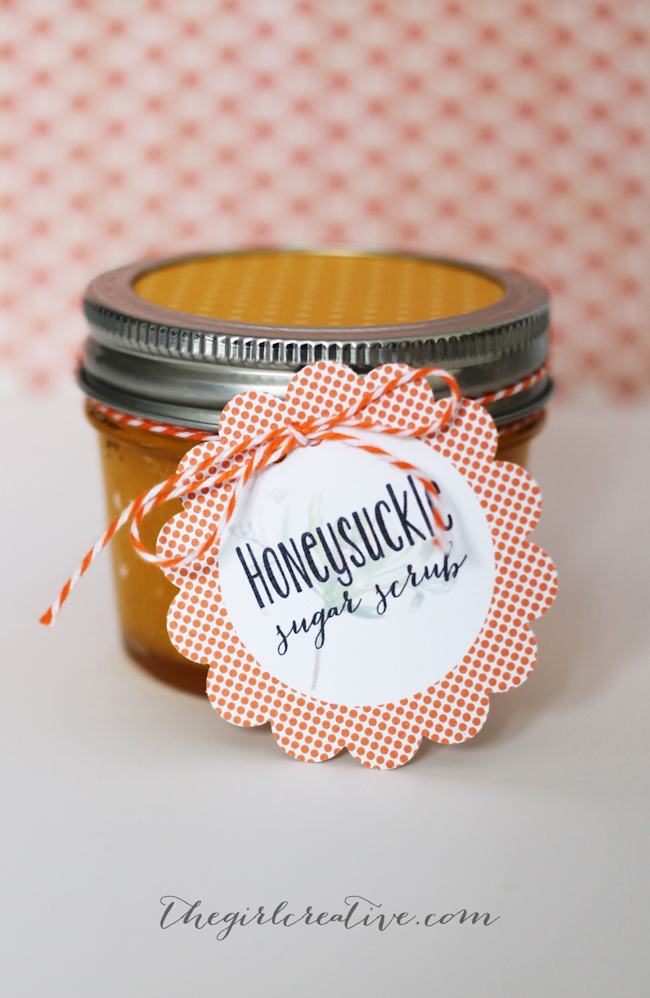 Homemade Honeysuckle Sugar Scrub Recipe | The Girl Creative