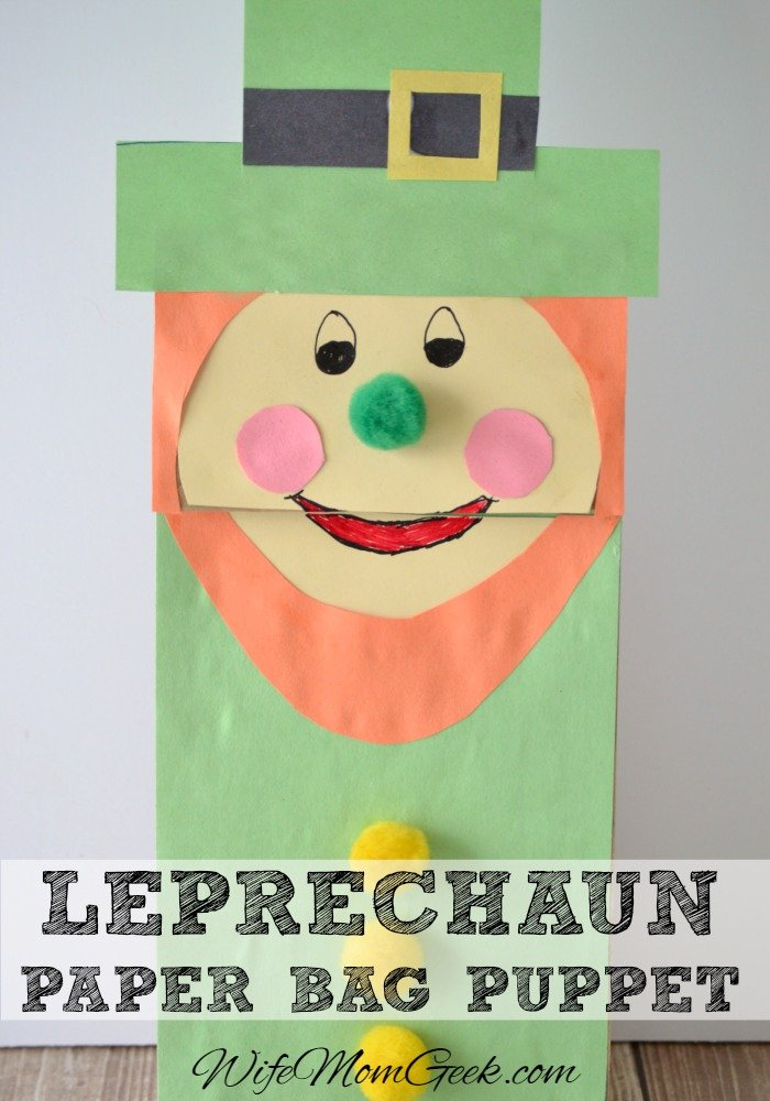 Leprechaun-Paper-Bag-Puppet-wife mom geek