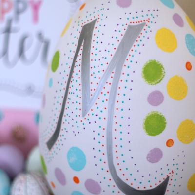 Monogram Easter Egg
