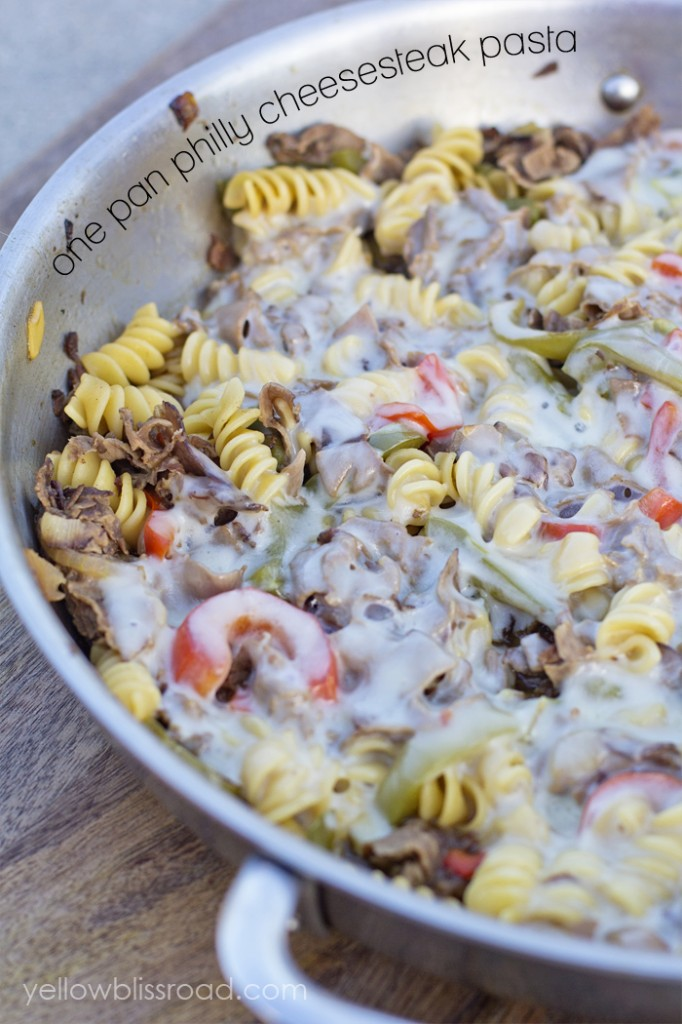 One-Pan-Philly-Cheesesteak-Pasta-yellow bliss road