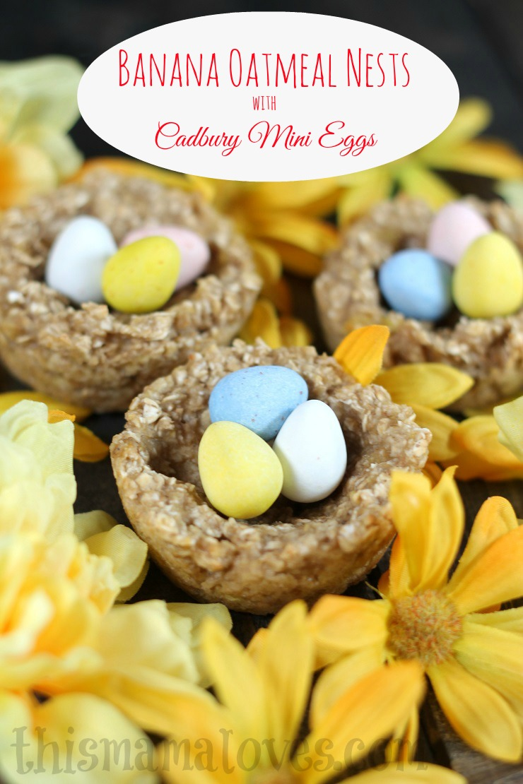 banana-oatmeal-easter-nests-cadbury-mini-eggs