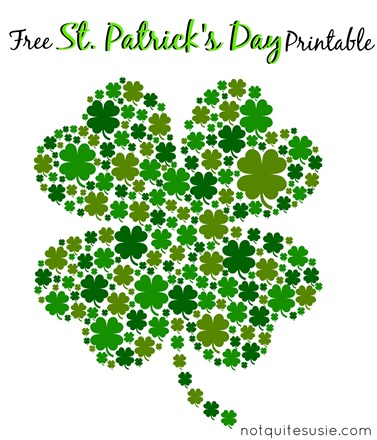Witty image in shamrock printable