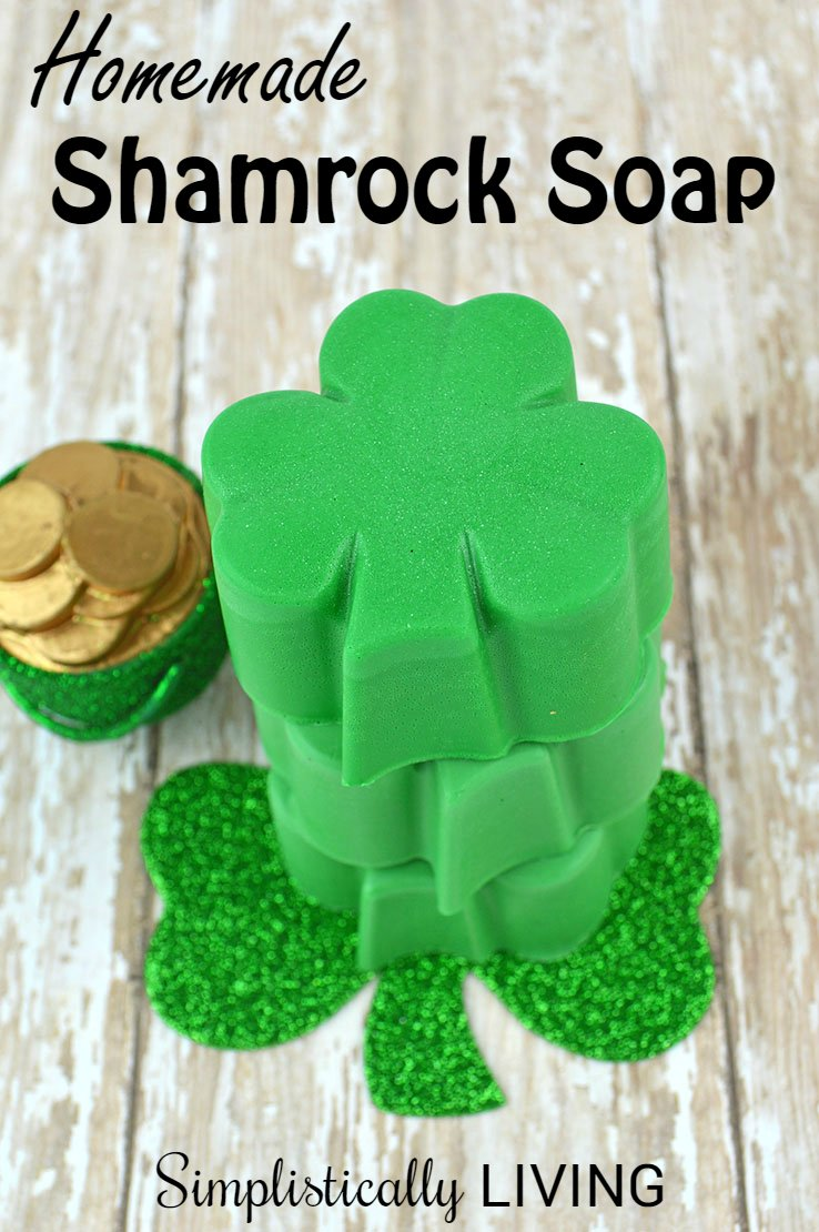 simplistically living HOMEMADE-SHAMROCK-SOAP