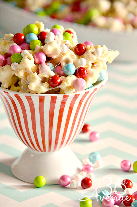 sixlets white chocolate popcorn