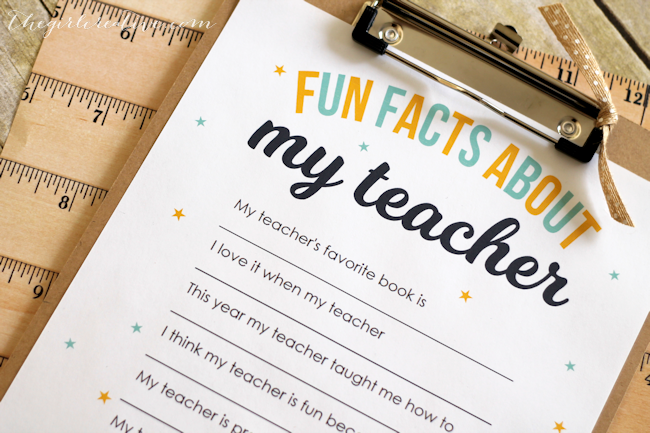Fun Facts About My Teacher-content