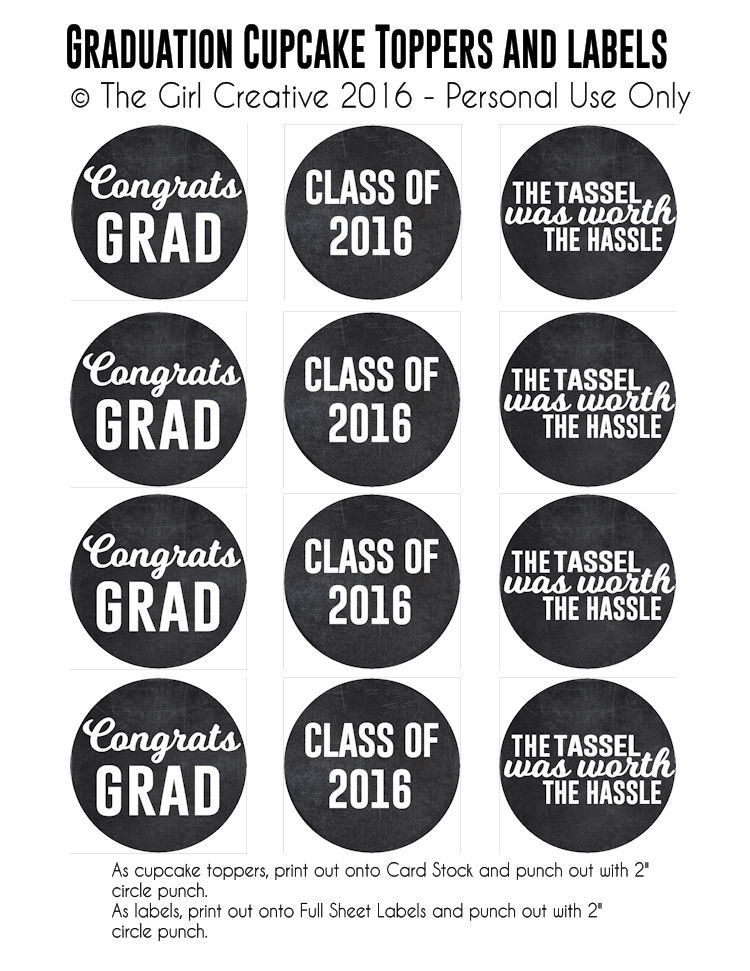 Graduation Printables The Girl Creative