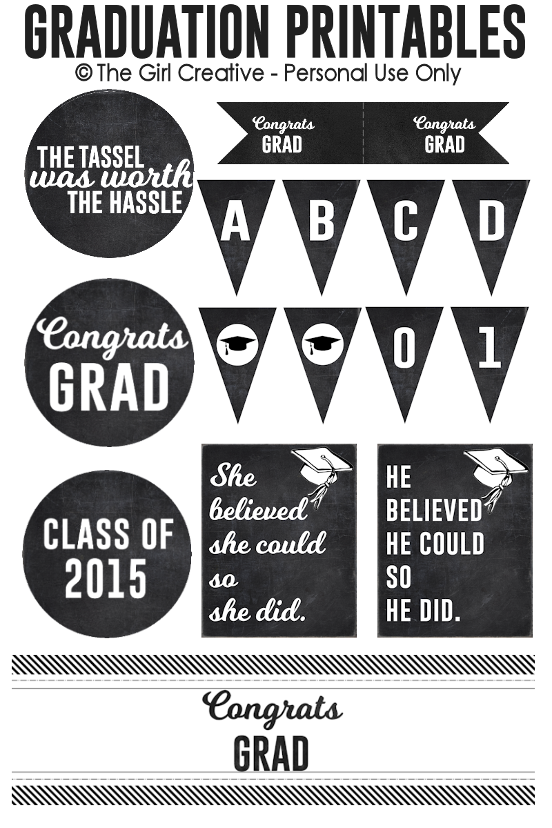 photograph about Free Printable Graduation Labels titled Commencement Printables - The Woman Imaginative