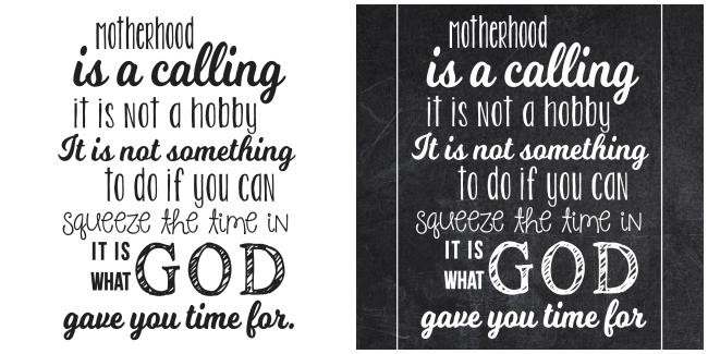 Motherhood Collage-black and white