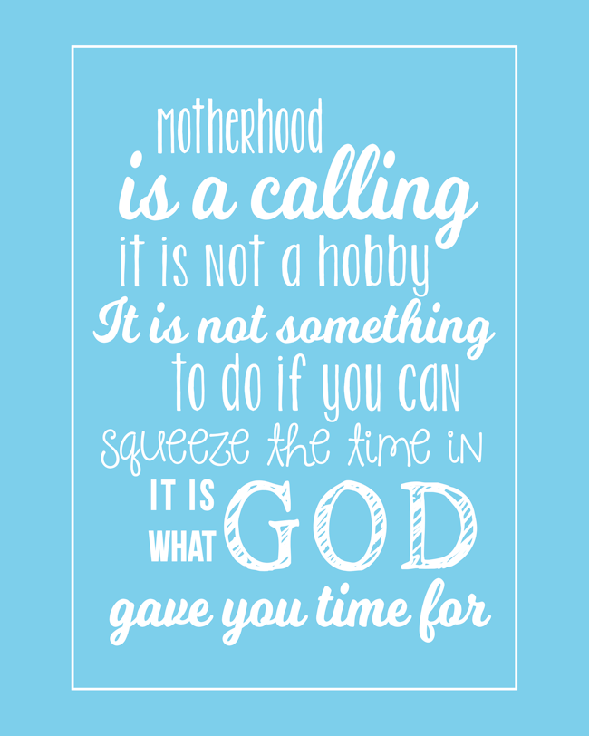 Motherhood Quote-Blue-BLOG