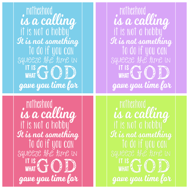 Motherhood Quote Collage