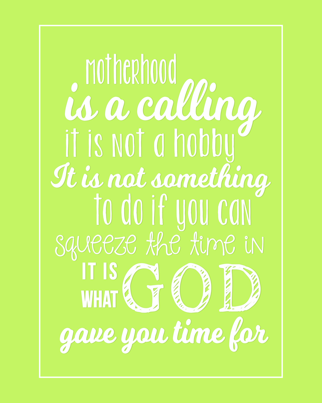 Motherhood Quote-Green-BLOG