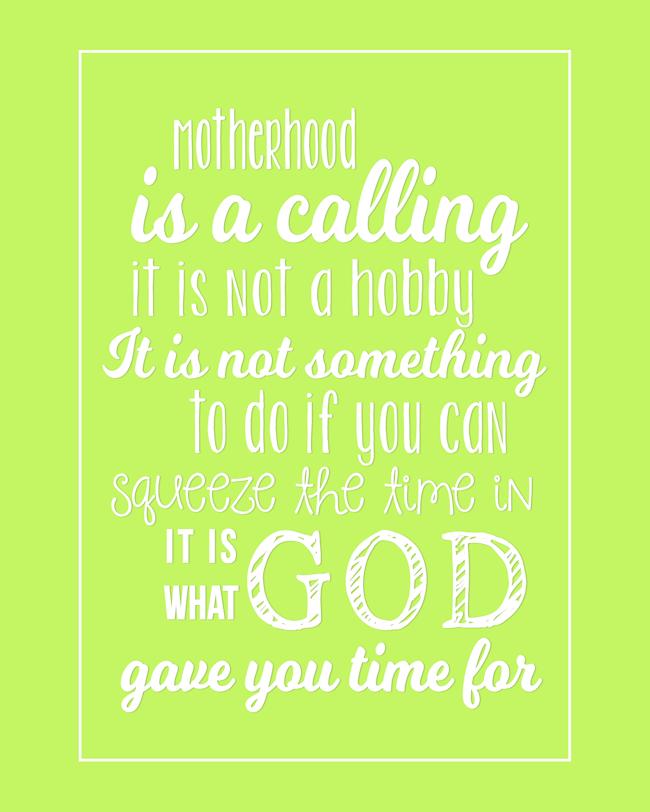 Motherhood Quote-Green-BLOG