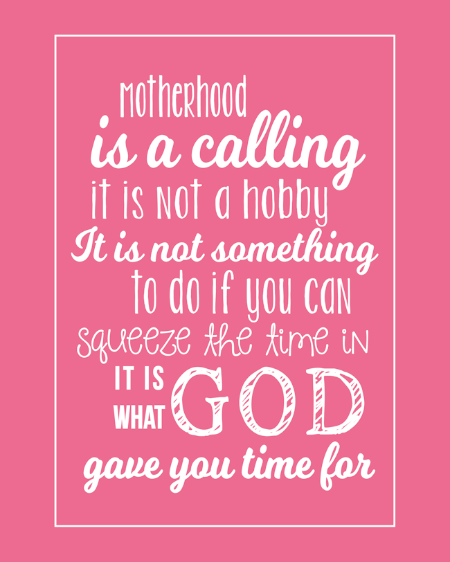 Motherhood Quote-Pink-BLOG
