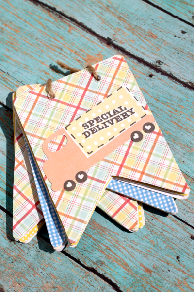 DIY Pennant Banner Scrapbook that you can whip up in a flash!