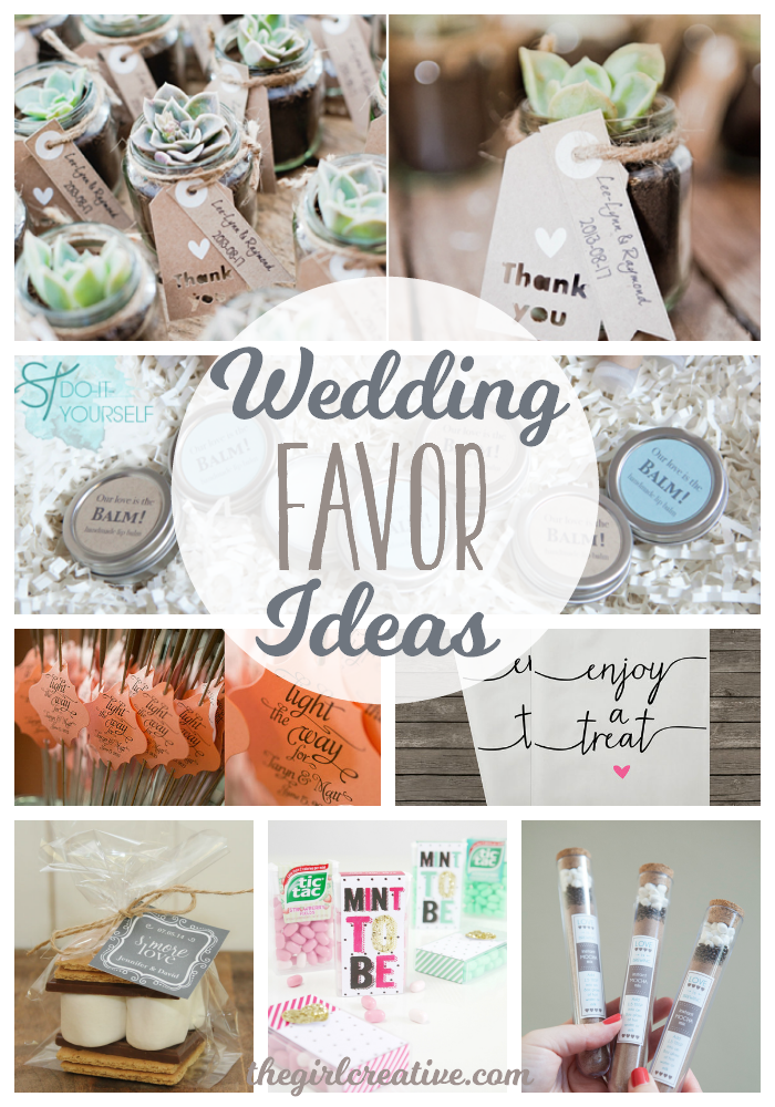 Wedding favor ideas the girl creative for Wedding favor supplies
