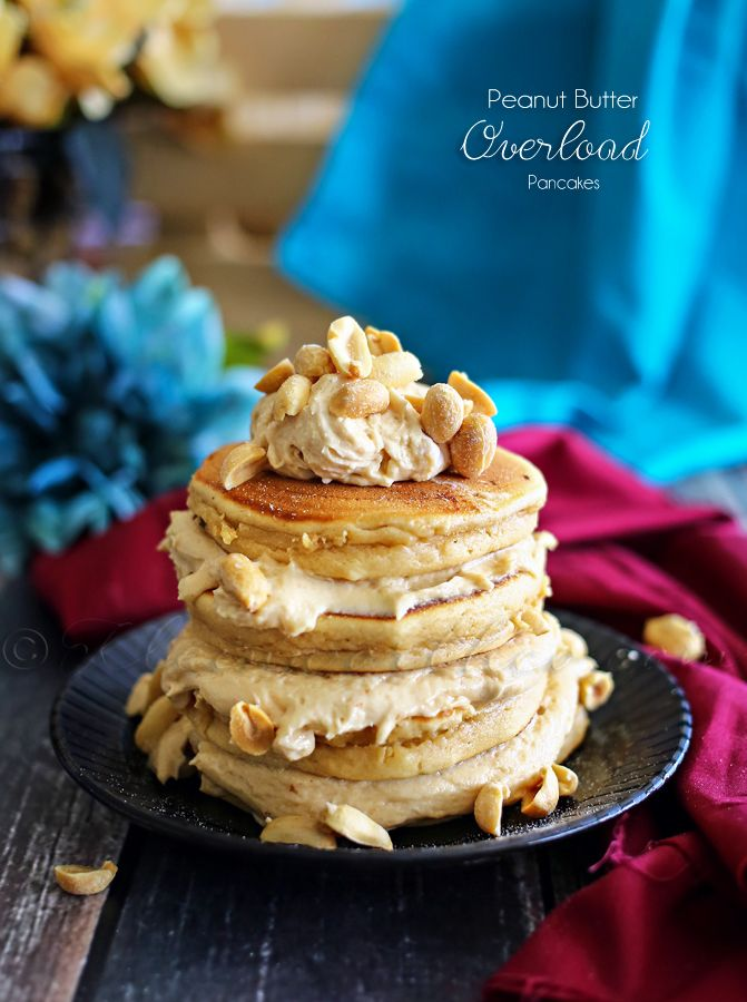 peanut butter overload pancakes