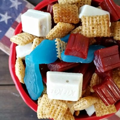 Red, White and Blue Chex Mix